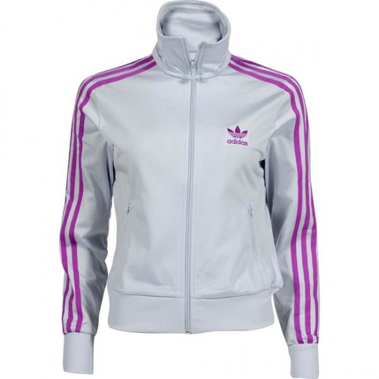 adidas firebird tt damen jacke hellgrau lila ebay. Black Bedroom Furniture Sets. Home Design Ideas