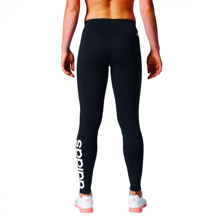 adidas damen essentials linear pant leggings trainingshose schwarz grau bekleidung damen. Black Bedroom Furniture Sets. Home Design Ideas