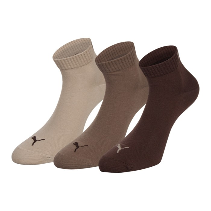 puma trainer socks 3 pack quarters choco nut safari. Black Bedroom Furniture Sets. Home Design Ideas